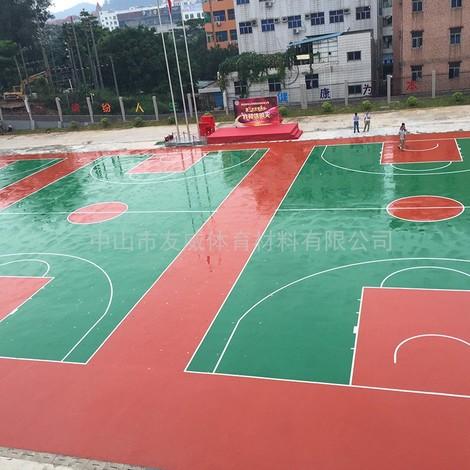 深圳龙岗华南师大附属乐城学校2800平方丙烯酸球场