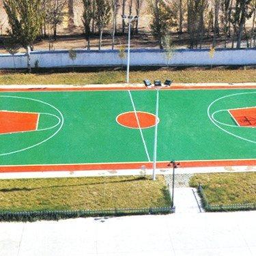 木垒县公安局硅PU篮球场