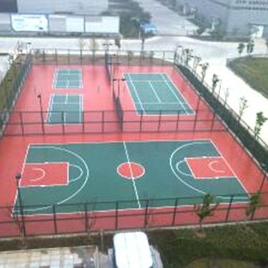 江苏徐州市物流园硅PU球场