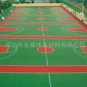 江阴一中硅PU球场