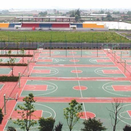 江西逸阳逸夫中心小学篮球场和羽毛球场