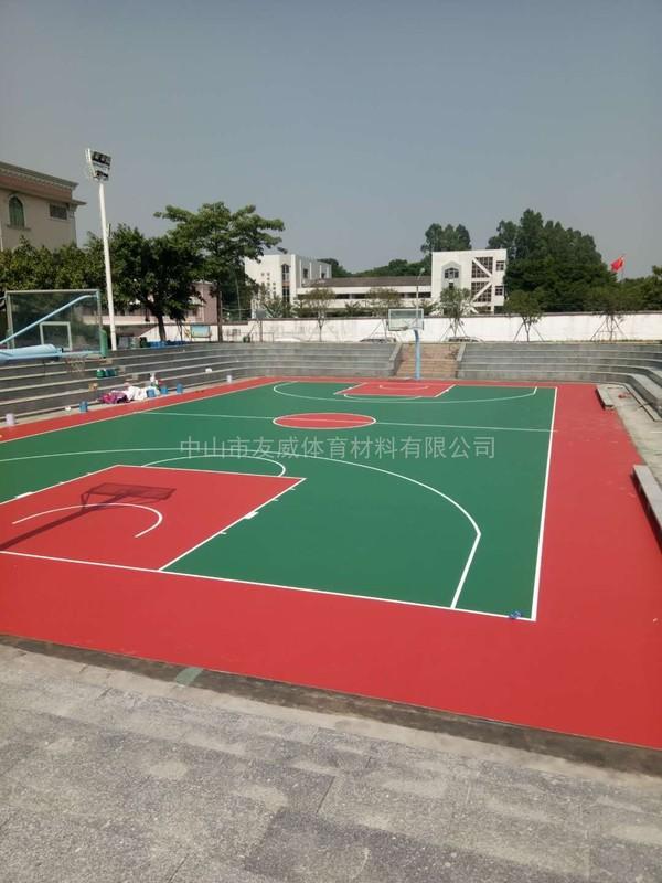 中山市沙溪镇硅pu篮球场