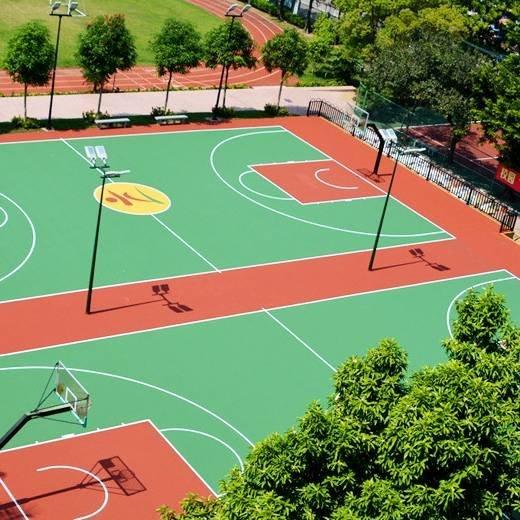 纯PU篮球场施工